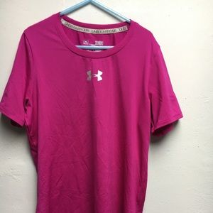 Under Armour Youth Lg pink top